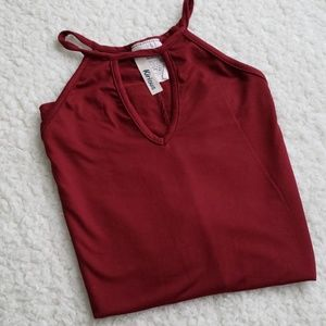 Tops - Flowy Cranberry Top